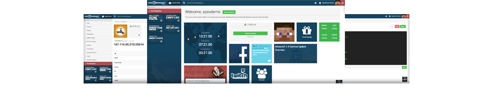 apex hosting custom multicraft control panel