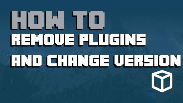 Remove Plugin and Change Version