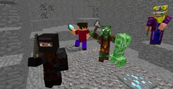 screenshot of Minecraft online