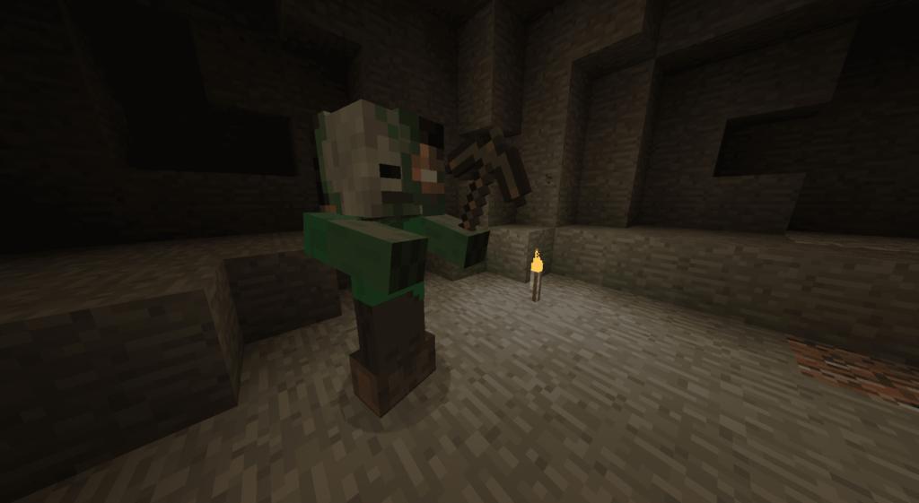 dead miner minecraft
