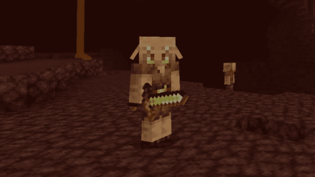 piglin in the nether