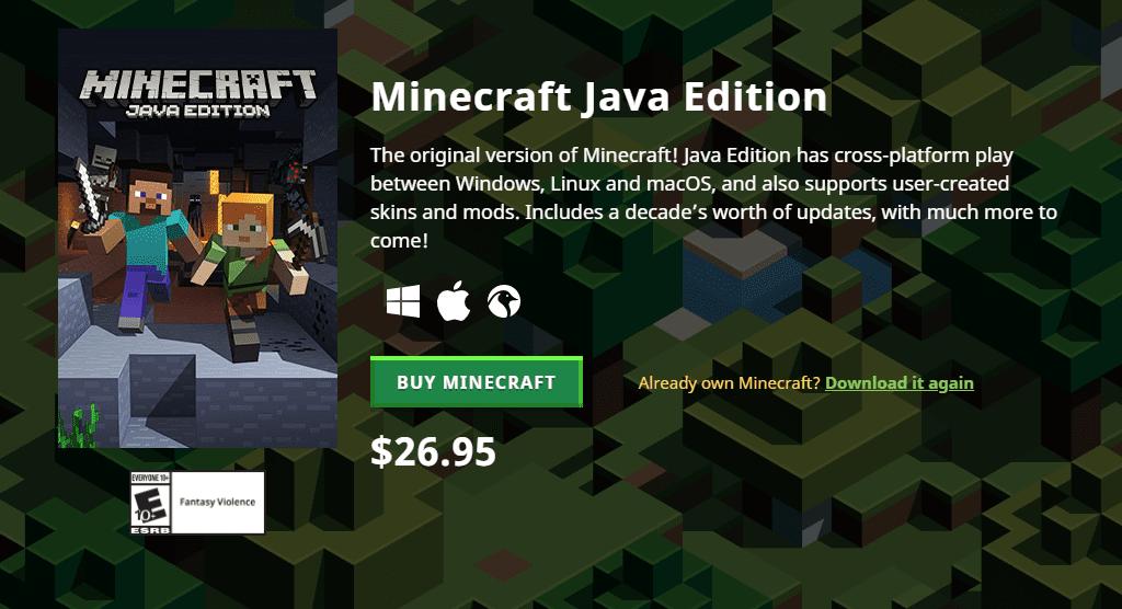 buy minecraft