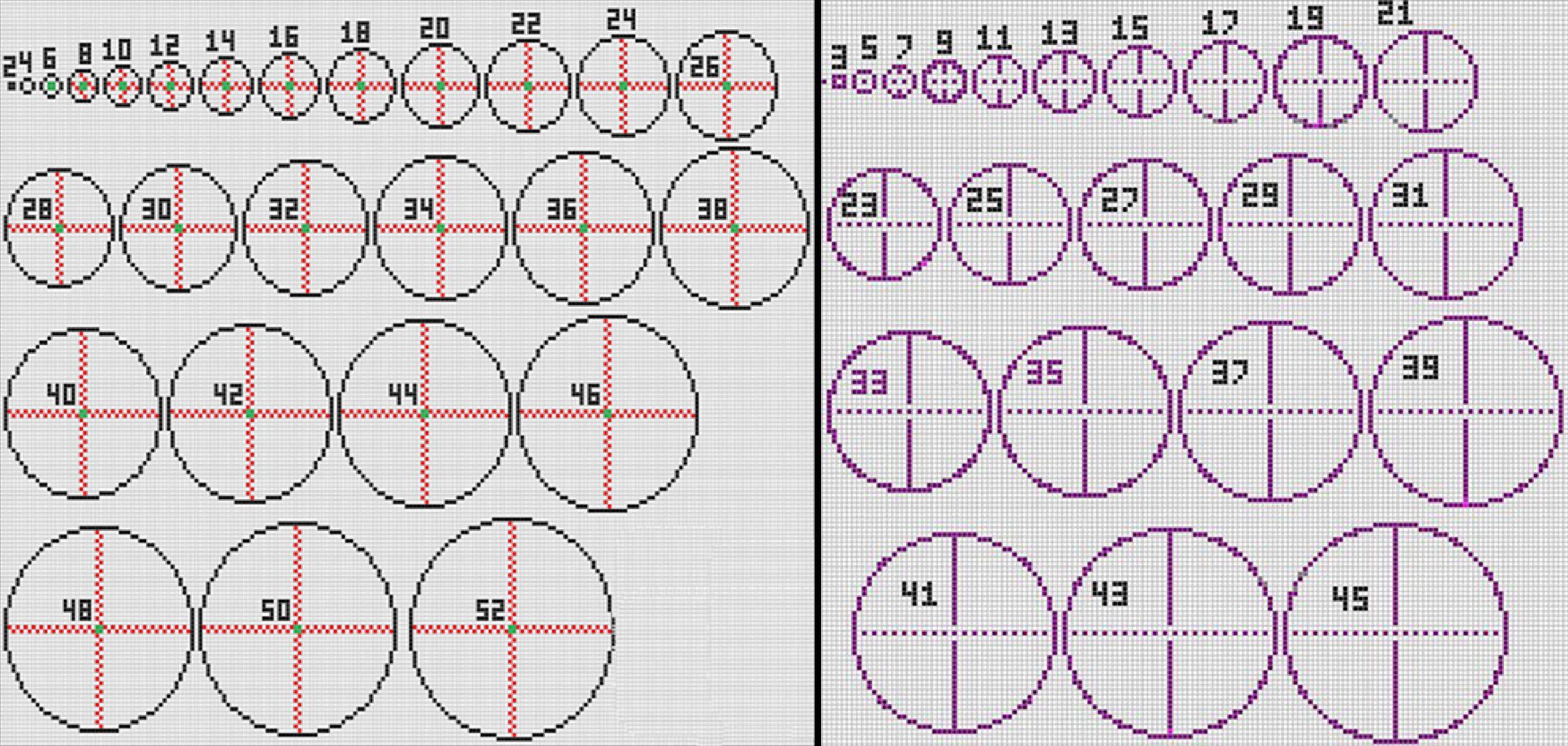 Minecraft Circle Charts and Blueprints Apex Hosting