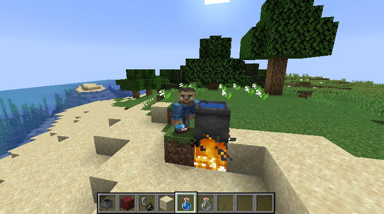 boiling water in minecraft