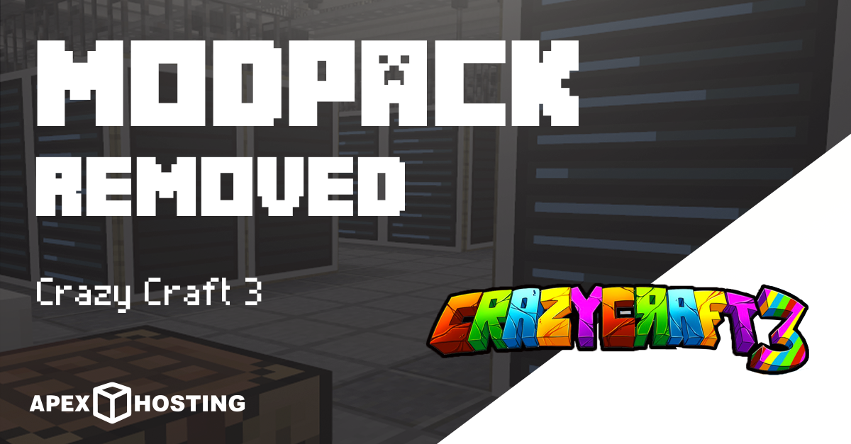 Crazy Craft 3 Has Been Removed