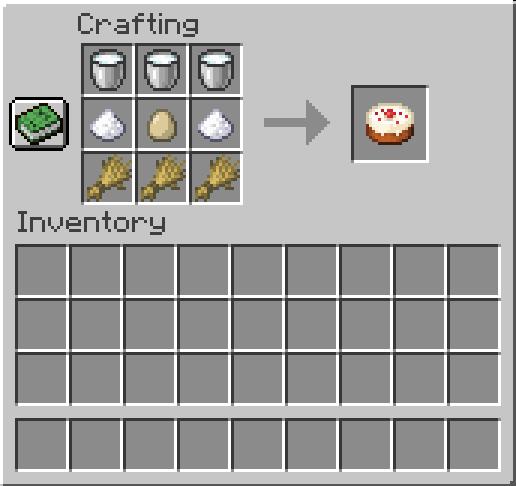 cake crafting recipe